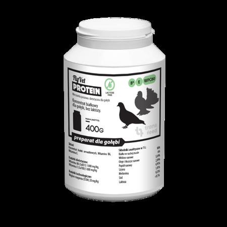 TRANS FEED FLYVET VITAMINS 400 g - Białko dla Gołębi.